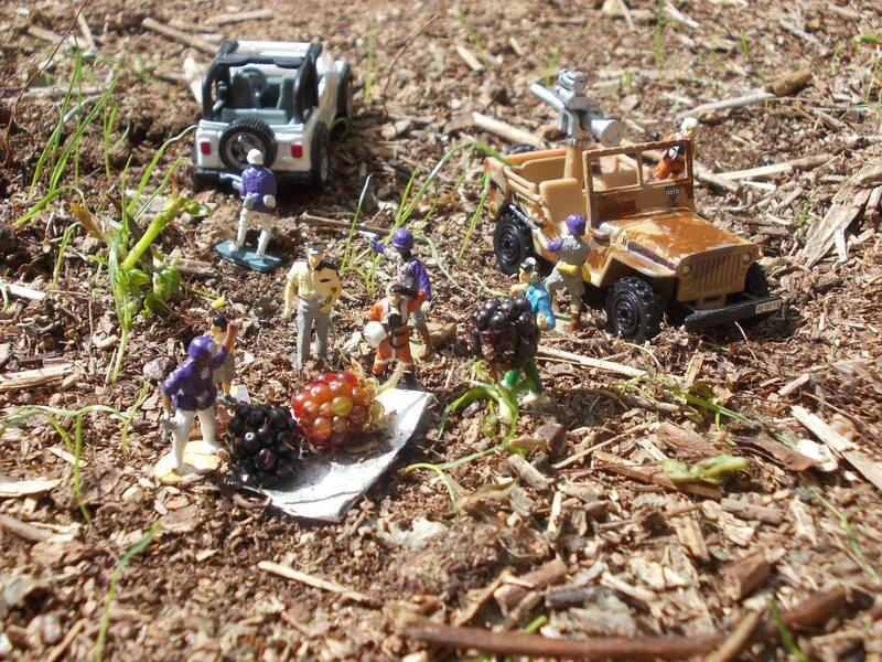 """A bord de la Cité Volante Miniature """"Sasgarion"""", préparatifs d'une mission de reconnaissance au sol."""