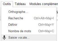 Google Docs intègre la reconnaissance vocale
