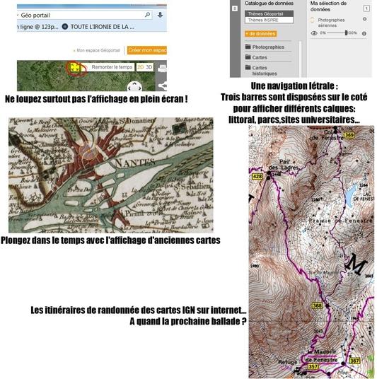 Géoportail, Cartes IGN