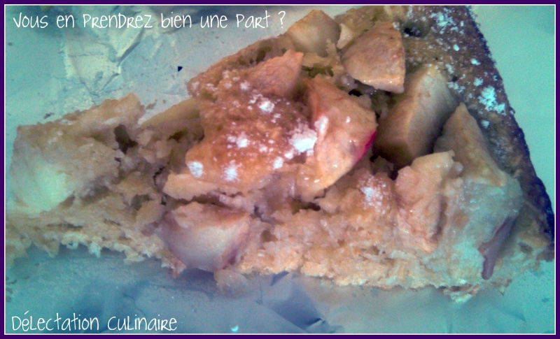 Gâteau aux pommes et noix de coco (sans beurre)