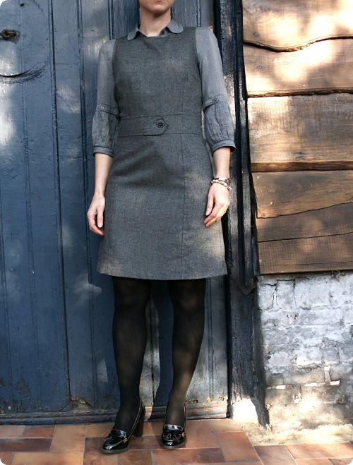 Tweed boutonné