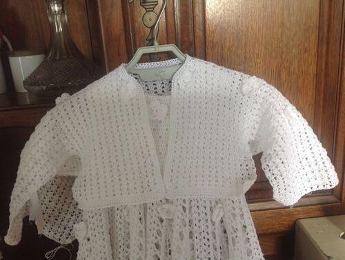 Alysia: robe de baptême offerte par Sylvie