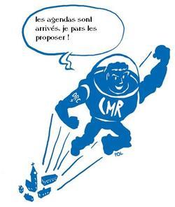 Les agendas (papier) du CMR sont en vente