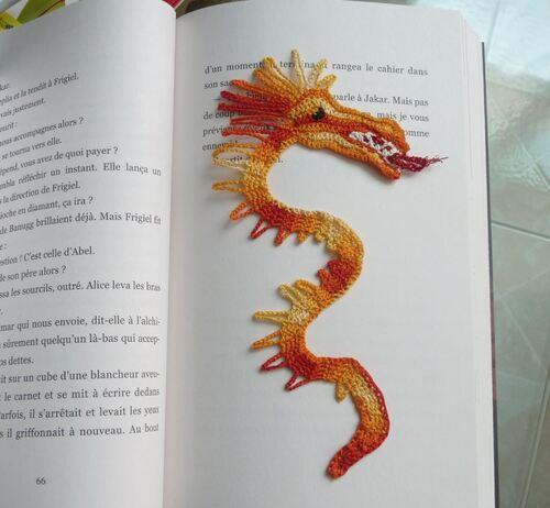 Mon dragon marque page