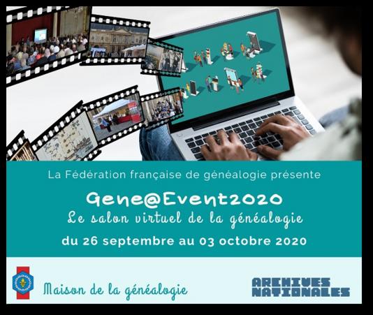Gene@event2020 La semaine virtuelle de la généalogie