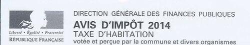 Taxe d'habitation 2014