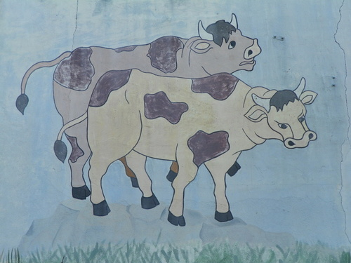 Mur peint à Parves