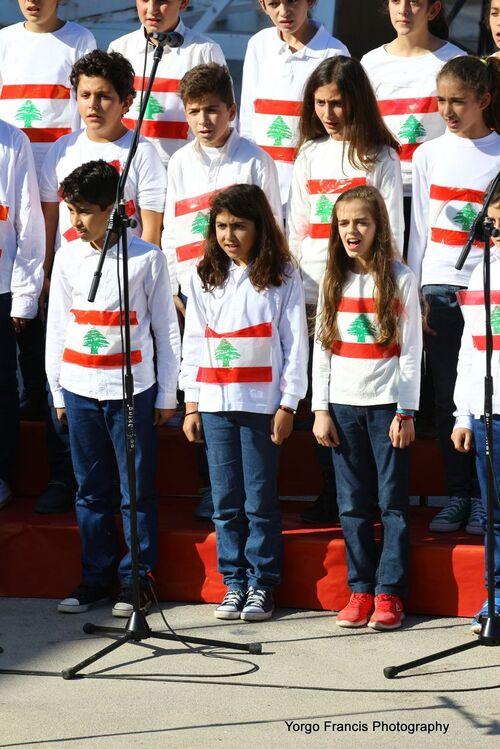 Fête de l'Indépendance du Liban 2015 au Collège Notre Dame du Balamand.