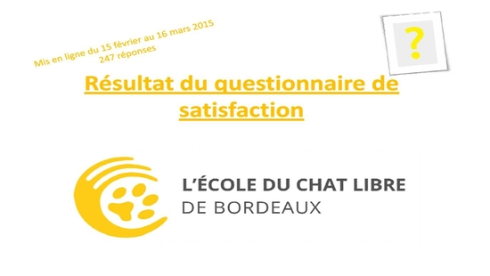 Resultat questionnaire de satisfaction