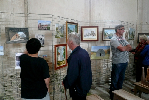 Exposition de peinture à la chapelle de Saint-Phal pour les journées du Patrimoine