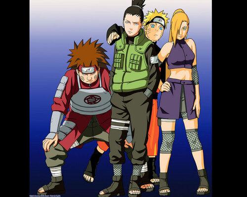 L'équipe 10 et Naruto