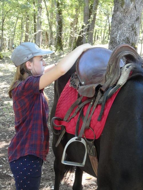 Léa-Kenza et les chevaux