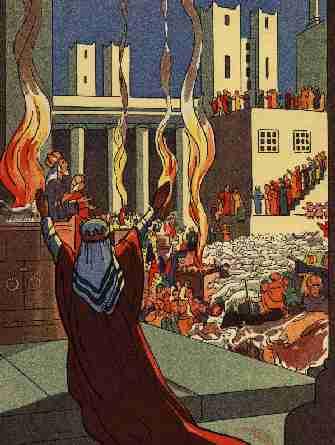 La construction du temple de Jérusalem
