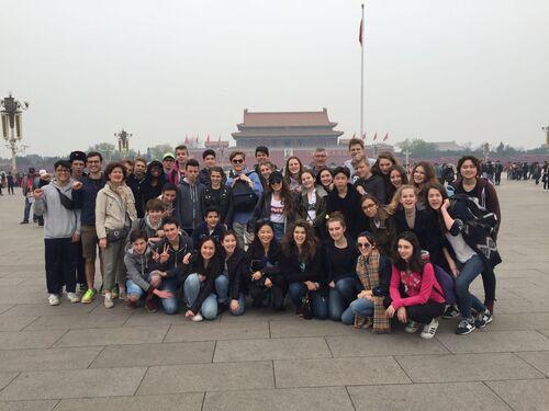 Sur la Place Tiananmen