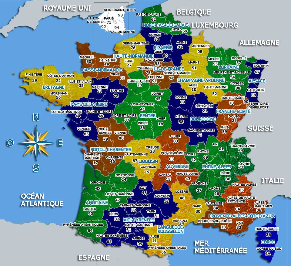 Carte France Avec Toutes Les Villes | tonaartsenfotografie
