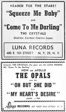The Crystals (1) aka The Opals (1)