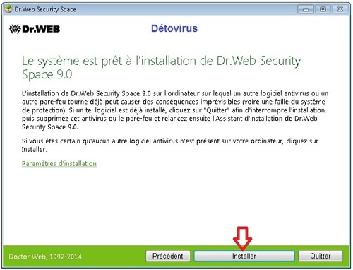 Dr.Web Security Space 9 - Licence 3 mois gratuits