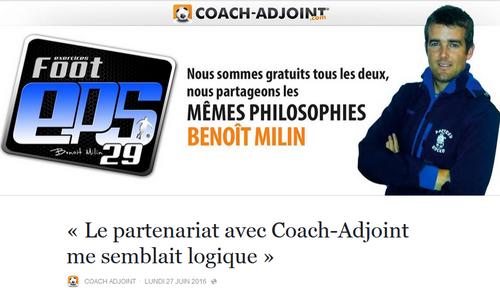 Interview pour le site coach adjoint