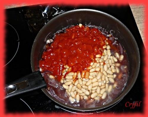 Boulettes aux haricots blancs et tomates
