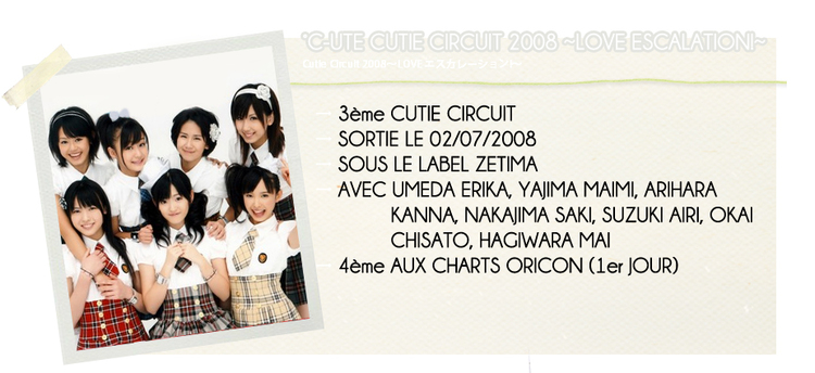 °C-UTE CUTIE CIRCUIT 2008 ~LOVE ESCALATION!~