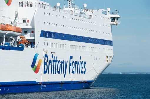 Un navire de la Brittany Ferries quittant Roscoff (Finistère), le 14 août 2020.