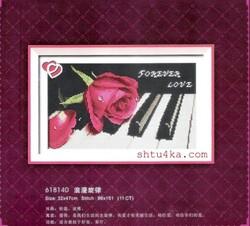 Rose sur le piano