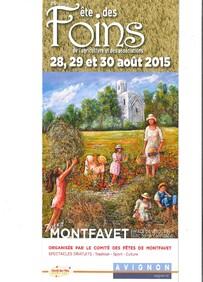 FETE DES FOINS MONTFAVET  28, 29 et 30 AOUT 2015