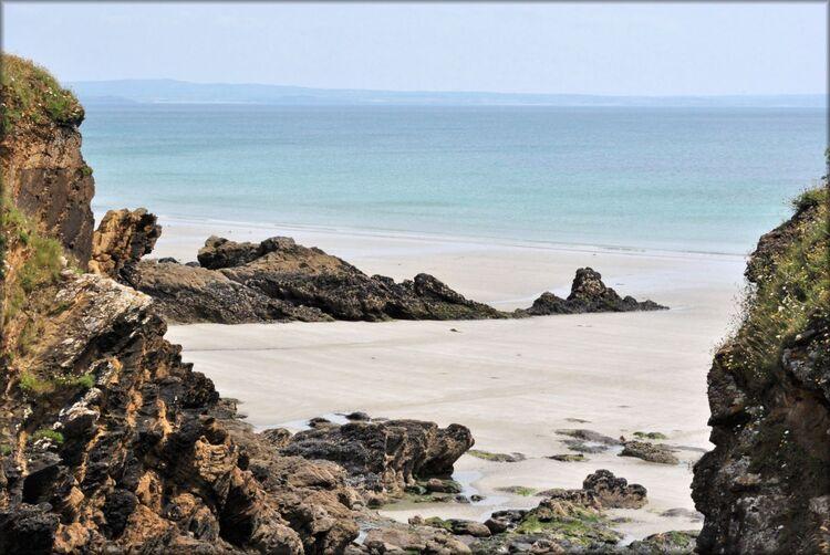 Photo de la plage l'Aber depuis l'île : Crozon
