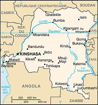 Congo Rep Dem carte