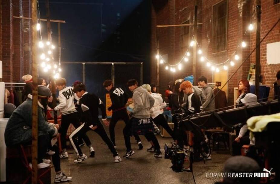 Behing the scenes des BTS pour PUMA