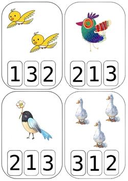 Cartes à compter oiseaux