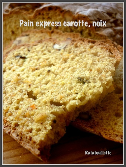 Pain express carottes, noix