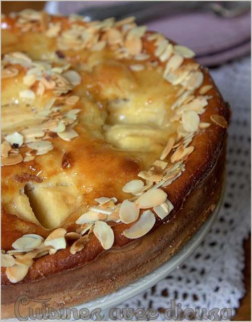 Gâteau alsacien aux pommes  (recette de Djouza) prise sur le net