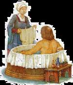 Le bain auMoyen Âge