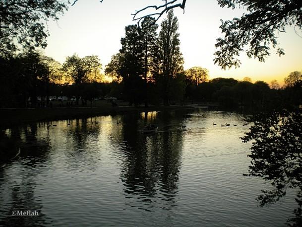 29 octobre 2011 Coucher de soleil lac Daumesnil 2
