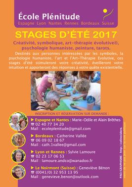 Stages d'été de l'école Plénitude