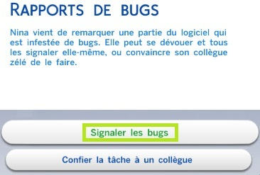 rapport de bugs