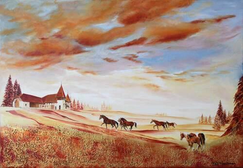 Peinture de : Josette Mercier Kommeyer