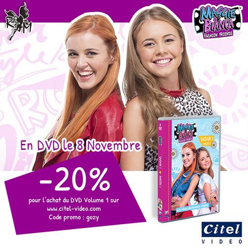 Maggie & Bianca : Code promo pour le premier DVD !