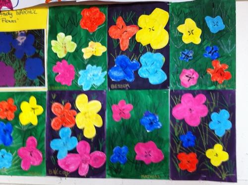 A la manière d'Andy Warhol, les fleurs !