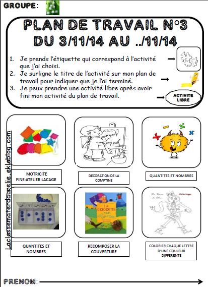 Plan de travail la classe d 39 aurelie - Petit plan de travail ...