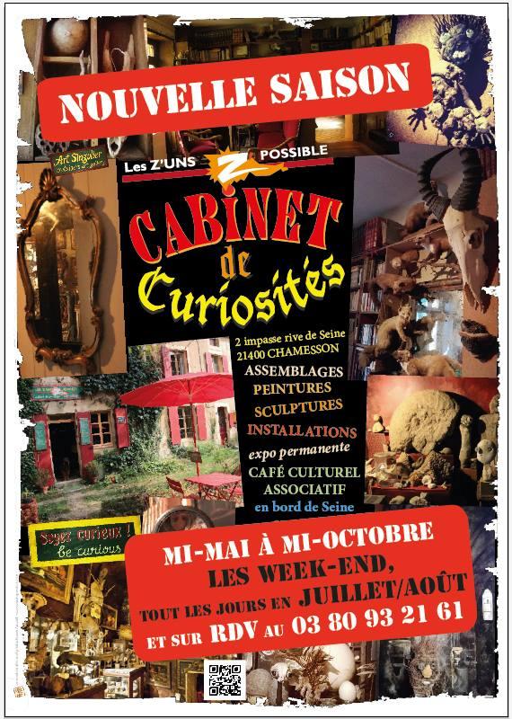 Le cabinet de curiosités de la Galerie des Z'Uns Possible de Fabien Ansault à Chamesson, s'est agrandi et s'est superbement étoffé !