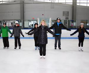 dance ballet class skaters ice class