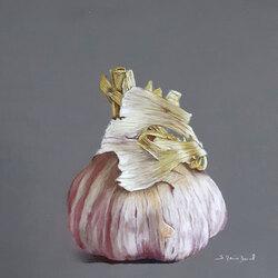 Gousse d'ail 30 x 30 (vendu) Sylvie Marin-Durand