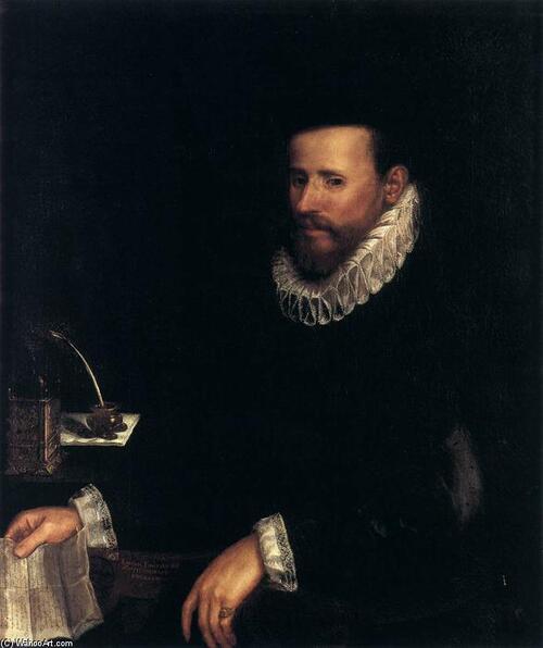 Portrait d'un notaire, par Lavina Fontana, 1583