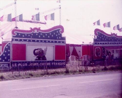 le cirque Jean Richard à La Baule en 1982 ( archives Stéphane Sauval)
