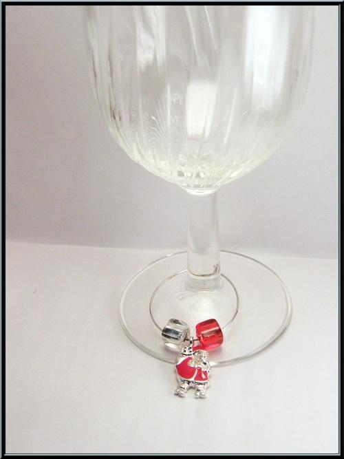 Bijoux/marque verre de Noël.