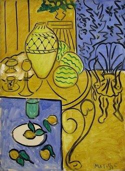Henri Matisse - Intérieur jaune et bleu