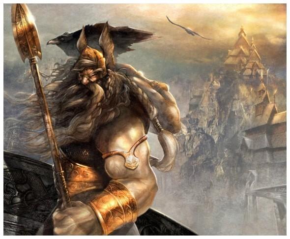 Odin est un dieu dans la mythologie nordique