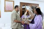 Photos sans protocole de Mohamed 6 au Côte d'ivoire